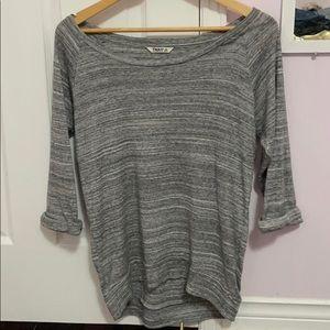 Tna off the shoulder heather grey shirt sz xs